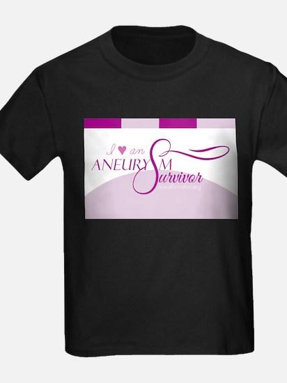 I <3 An Aneurysm Survivor (Purple) T-Shirt
