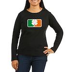 Irish Sports Logo Women's Long Sleeve Dark T-Shirt