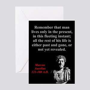Remember That Man Lives Only - Marcus Aurelius Gre
