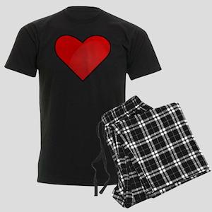 Red Heart Drawing Pajamas