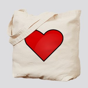 Red Heart Drawing Tote Bag