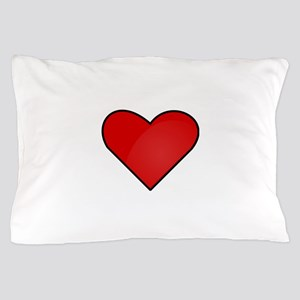 Red Heart Drawing Pillow Case