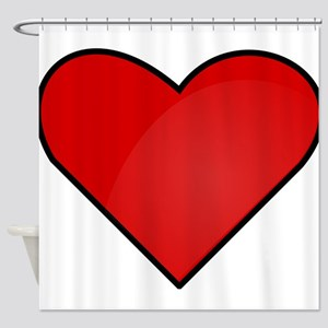 Red Heart Drawing Shower Curtain