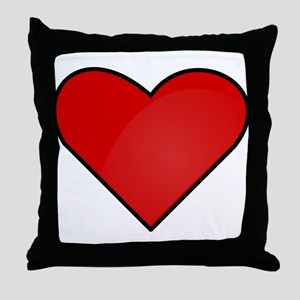 Red Heart Drawing Throw Pillow