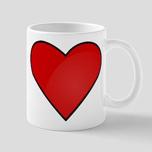 Red Heart Drawing Mug