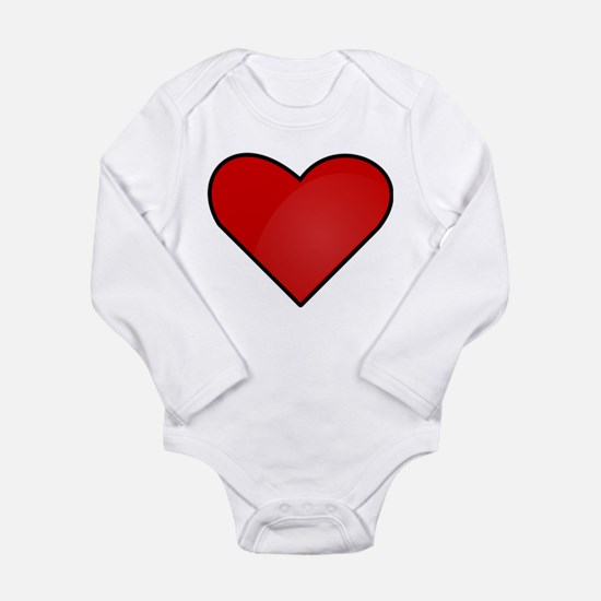 Red Heart Drawing Body Suit