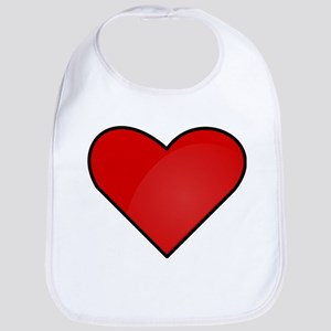 Red Heart Drawing Bib