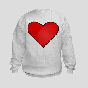 Red Heart Drawing Sweatshirt