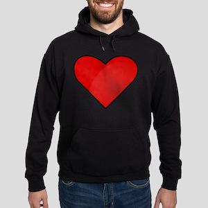 Red Heart Drawing Hoodie