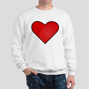 Red Heart Drawing Sweatshirt