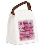 Be Patient? Canvas Lunch Bag