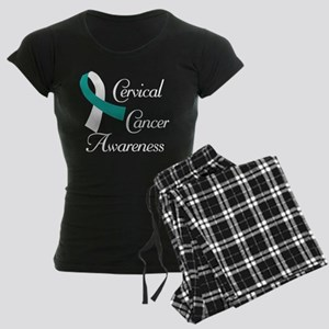 Cervical Cancer Awareness Women's Dark Pajamas
