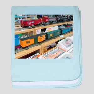Adding Trains baby blanket