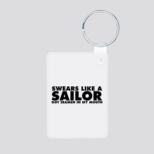 Swears Like a Sailor Aluminum Photo Keychain
