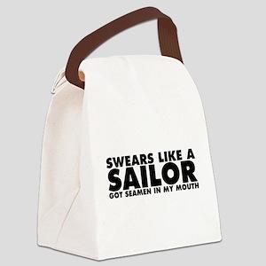 Swears Like a Sailor Canvas Lunch Bag