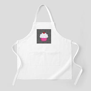 Pink Cupcake on Polka Dots Apron