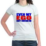 Even My Ego Jr. Ringer T-Shirt