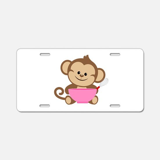 Baking Monkey Aluminum License Plate