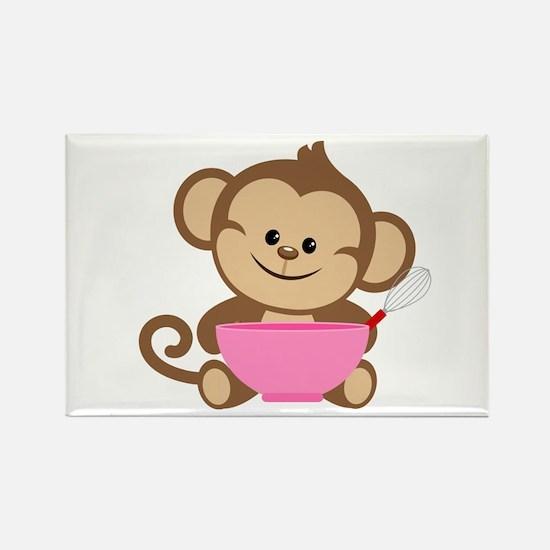 Baking Monkey Rectangle Magnet