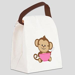 Baking Monkey Canvas Lunch Bag