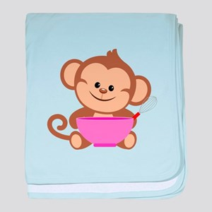 Baking Monkey baby blanket