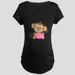 Baking Monkey Maternity T-Shirt