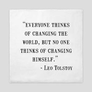 Leo Tolstoy Quote Queen Duvet