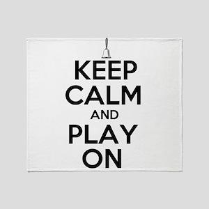 Keep Calm and Play On Handbells Throw Blanket