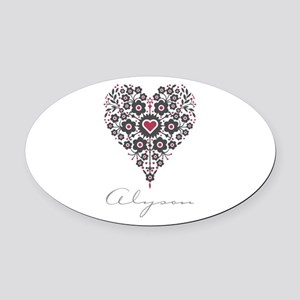 Love Alyson Oval Car Magnet