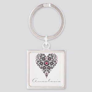 Love Anastasia Square Keychain