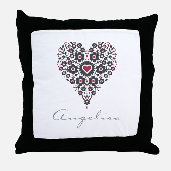 Love Angelica Throw Pillow