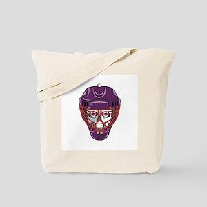 Hockey Mask Skull Tote Bag