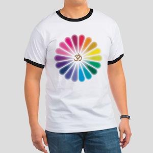 Om Rainbow Flower T-Shirt