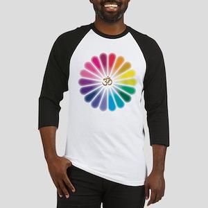 Om Rainbow Flower Baseball Jersey