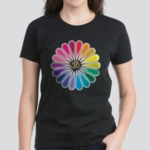 Om Rainbow Flower T-Shirt