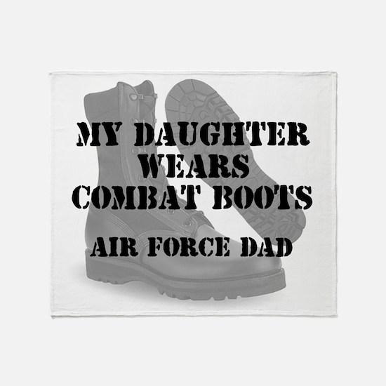 AF Dad Daughter Wears CB Throw Blanket