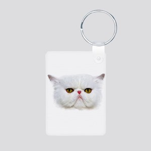 Grumpy Cat Aluminum Photo Keychain