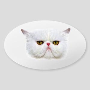 Grumpy Cat Sticker (Oval)