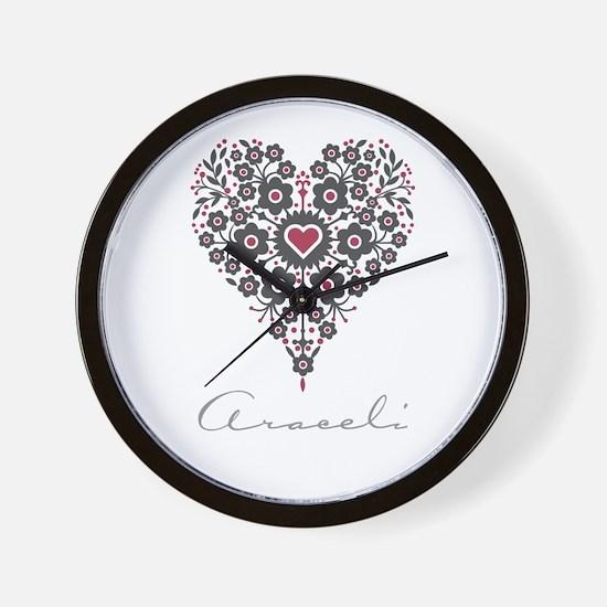 Love Araceli Wall Clock
