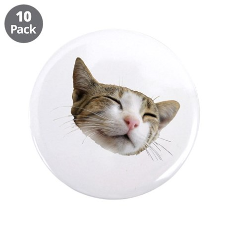 """Kitty Face 3.5"""" Button (10 pack)"""