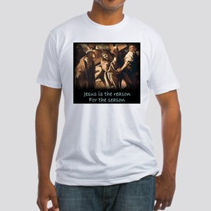 Easter Jesus is the reason for the season Fitted T