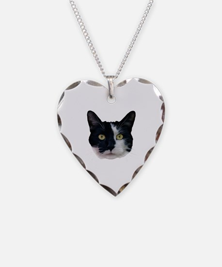 Black and White Cat Necklace