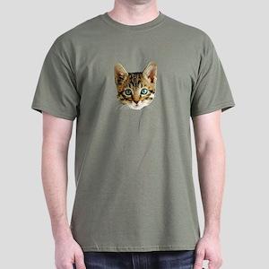 Kitty Cat Face Dark T-Shirt