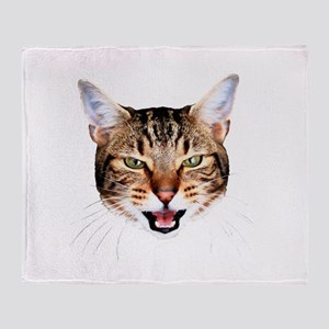 Mean Cat Throw Blanket