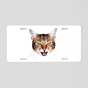 Mean Cat Aluminum License Plate