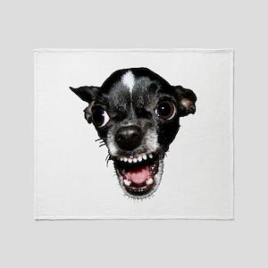 Vicious Chihuahua Throw Blanket