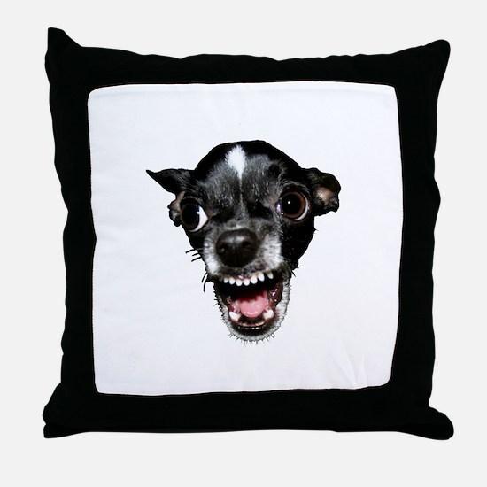 Vicious Chihuahua Throw Pillow