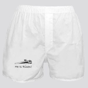 easter he has risen cross Boxer Shorts