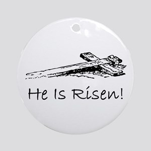 easter he has risen cross Ornament (Round)