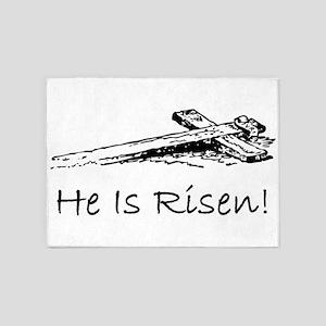 easter he has risen cross 5'x7'Area Rug